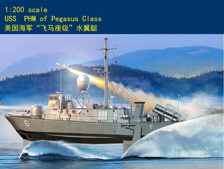Modelo Hobby Chefe USS PHM de Pegasus Classe 1/200 scaleship kit novo 82006