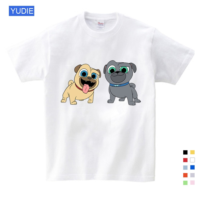 Summer Cartoon Dog Friends Print Tee Tops for Boy Girls Kids Clothes White 3D Funny T-shirt Kids T Shirt Clothes Cartoon YUDIE