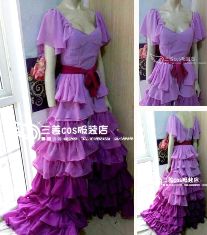 هيرميوني جان غرانجر تأثيري فستان مُصمم حسب الطلب للحزب 11