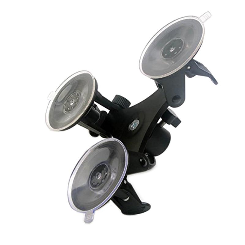 Triple montaje de ventosa de succión soporte de ángulo bajo para Gopro Hero 2 3 3 + 4 Cámara