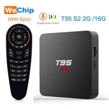 T95 S2 TV BOX Android 7.1 2GB 16GB Amlogic S905W Quad Core 2.4G WiFi décodeur sans fil 1GB 8GB T95S2 Smart Ott Media Palyer