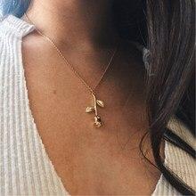 مجوهرات الأزياء كولير الوردي وردة ذهبية قلادة ستيتمينت قلادة المرأة الجمال والوحش مجوهرات عشاق الهدايا 4CND24