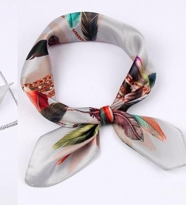 Shistal-pure real silk square scarf 55*55cm  fashion print women and girl brand shawl 2018 new design No. 22