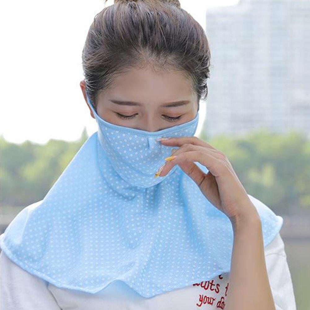 Защита от пыли на открытом воздухе для верховой езды в горошек маска лица УФ Для