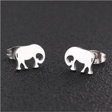 PE091 Titanium Stud Earrings Animal For Women Men 316l Stainless Steel Earring IP Plating No Fade Allergy Free