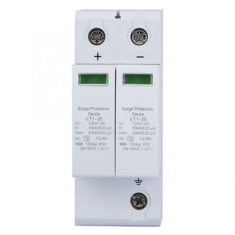 2P protección contra sobrecarga dispositivo DC fotovoltaica Protector de bajo voltaje de descargadores herramienta profesional 10/20KA y 20/40KA
