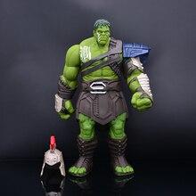 2019 vente chaude 35cm grande taille Thor 3 Ragnarok mains mobiles guerre marteau bataille hache gladiateur Hulk Bjd Action figurine modèle jouet