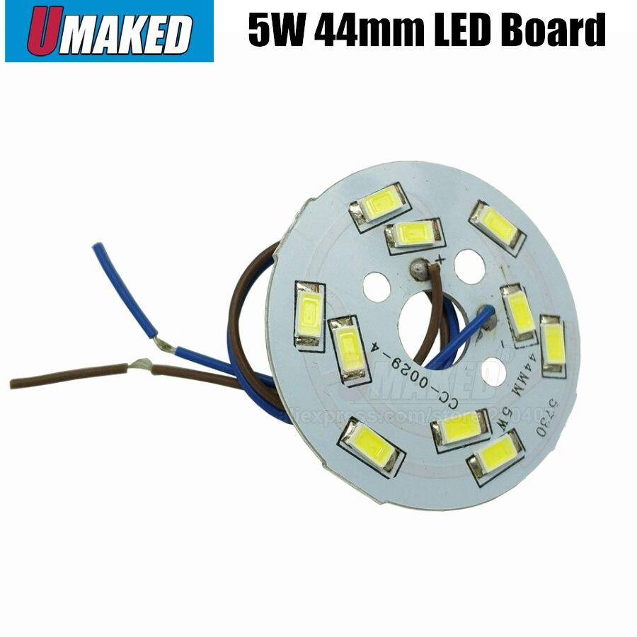 5 W 44mm SMD5730 Brilho Bordo Luz SMD com fio Conduziu o Painel Da Lâmpada Para PCB Teto Com LED, placa de alumínio com base de chip smd