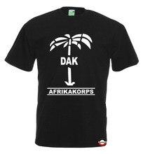 Afrika Korps   T-Shirt   Dak-Palme   Rommel Desert Fox   Wh   Korps Fashion 2019 Crew Neck Mens Short-Sleeve Casual Tee Shirts