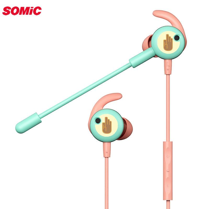 Somic g628 fones de ouvido para jogos com microfone para computador portátil 3.5mm fone de ouvido com fio para o telefone móvel da almofada