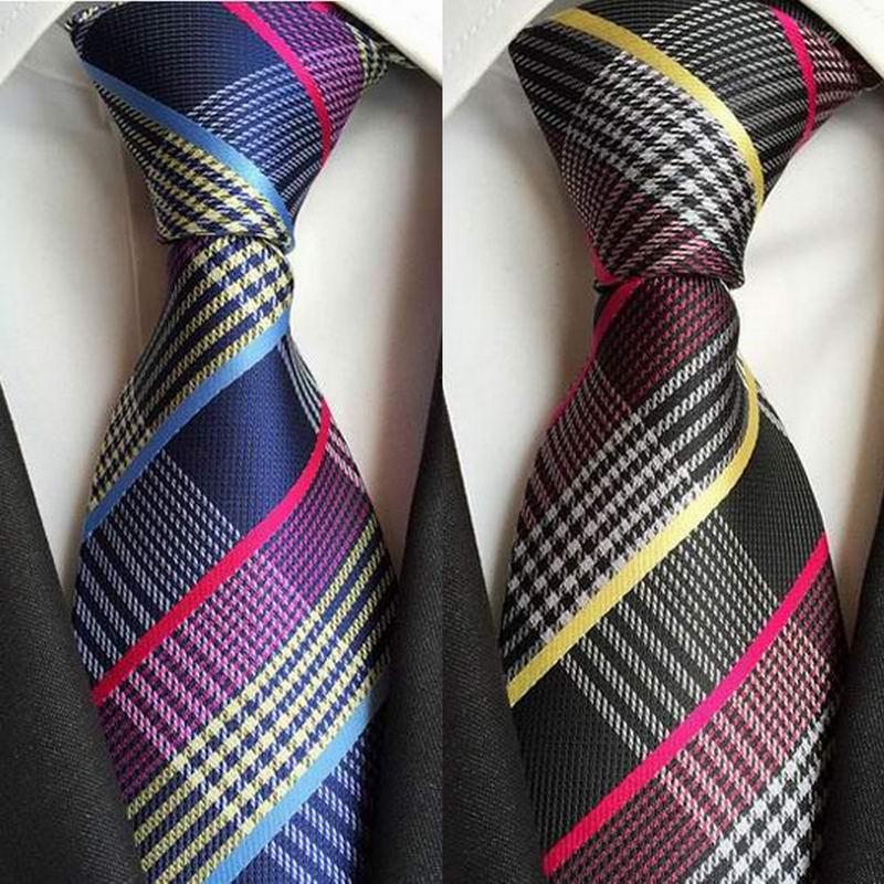 SKng corbatas clásicas de seda para hombre, corbatas con cuello de 8cm, corbatas rosas marrones y amarillas para hombre, traje de negocios y boda, corbatas de fiesta