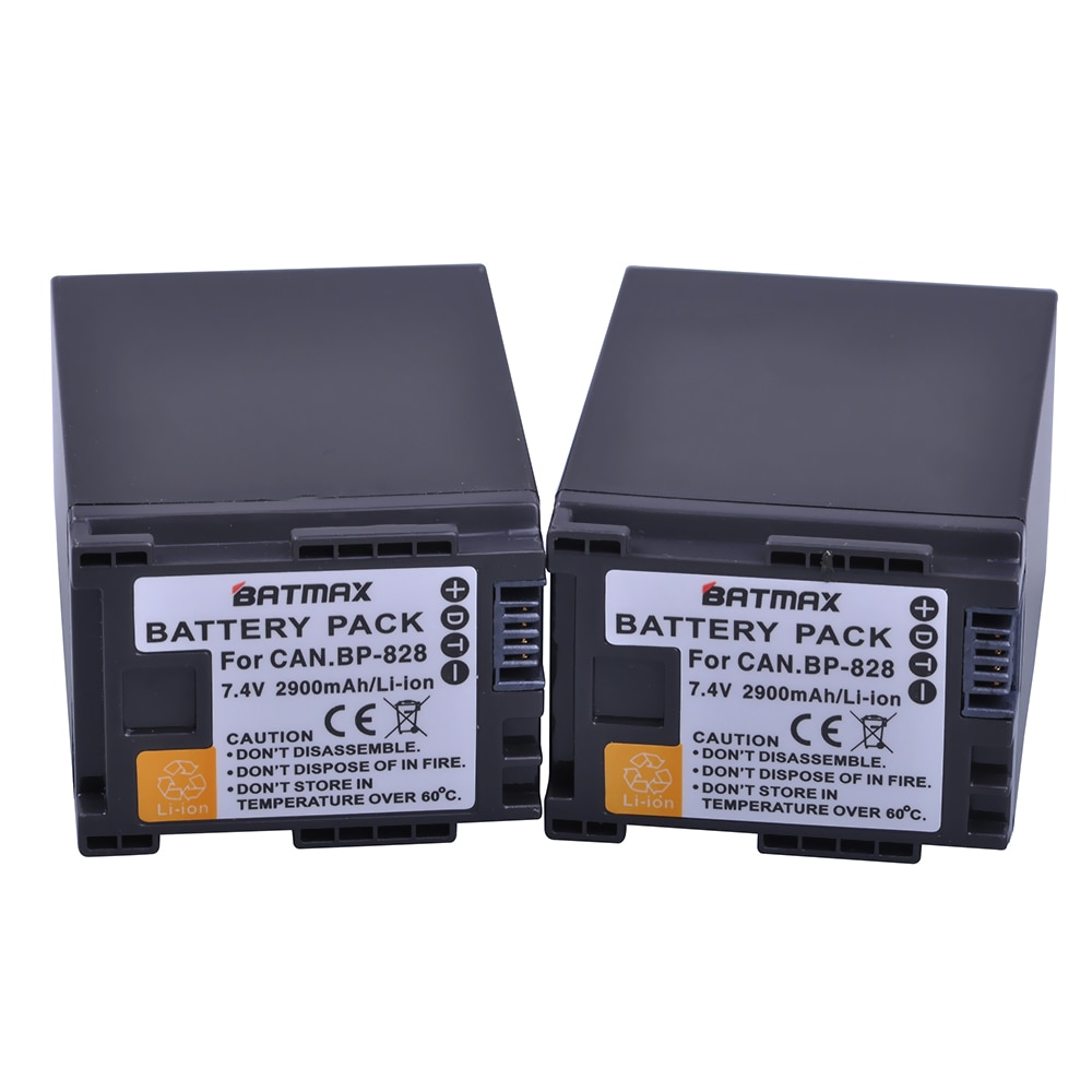 2 Stücke 2900 mAh BP 820 BP820 BP 828 Batterien für Canon LEGRIA GX10, XF400, XF405 HFG20, HFG30, HFG40, HFM41, HFM400, HFS21, HFS30