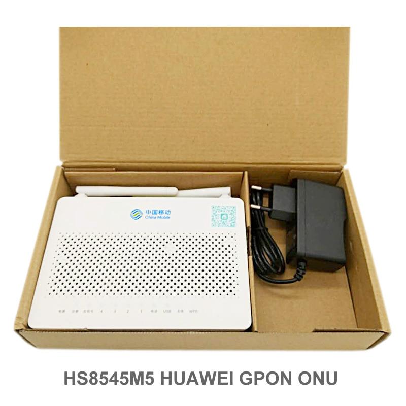 Envío gratuito, Router Optica Huawei HS8545M5 GPON ONU 1GE + 3FE + 1TEL + USB + WIFI Hua Wei, tamaño Mini igual que F623V6.0 HG8546M ftth Fibra