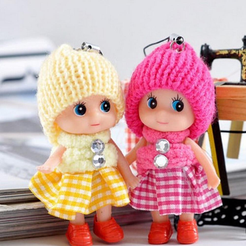 Мини-брелок с плюшевыми животными, милый модный Детский плюшевый брелок для ключей, мягкие брелоки с игрушками, для девочек и женщин
