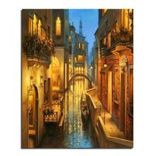 Lights Venice 40x50 Wholesale DIY Diamond Painting Home Decoration Rhinestone Wall Stickers Embroidery Needlework