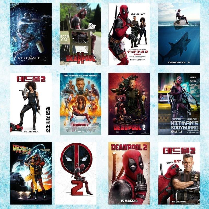 Deadpool 2 2018 película arte seda lienzo póster 13x20 24x36 pulgadas-001