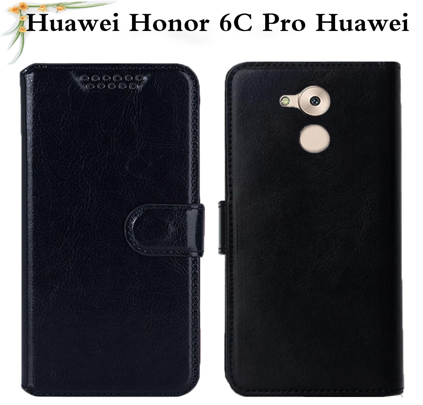 Funda abatible de lujo para Huawei Honor 6C Pro Huawei JMM-L22 de cuero PU funda de silicona suave 6C 6 C Pro JMM-L22 5,2 funda