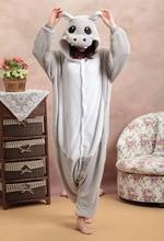 Cartoon dier siamese Halloween Hippo Onesie Pyjama Jumpsuits Rompertjes Volwassen Dier Hansop Pyjama Kostuum Cosplay