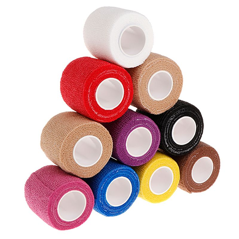 6pcs tattoo self adhesive elastic 5cm wide elbow tattoo handle bandage nail tapes finger protection wrap non slip cloth tape 10Pcs 5cm Disposable Tattoo Self-adhesive Elastic Grip Bandage Wrap Sport Tape Body Art Tattoo Accesories