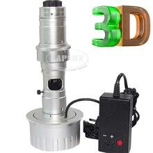 Lentille 3D stéréoscopique 180X C-MOUNT pour appareil-photo industriel de Document de Microscope + lumière de led avec la boîte de contrôle de luminosité