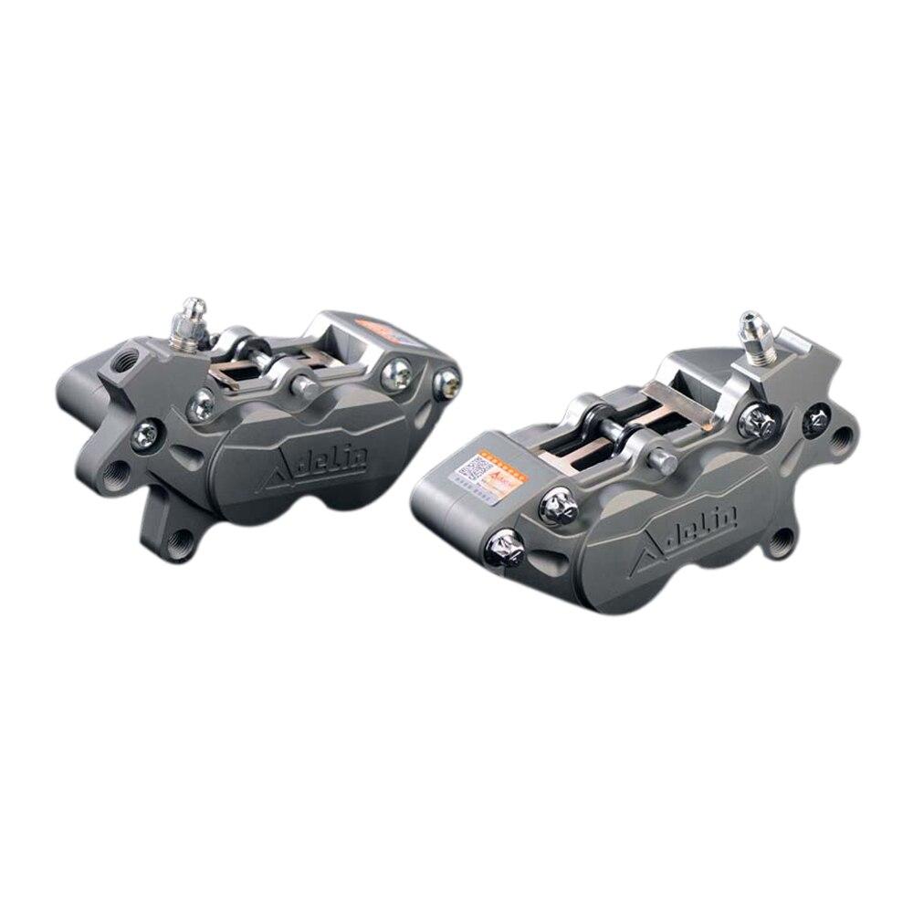 Adelin ADL-7 4 pistões Pinças de Freio Hidráulico Da Motocicleta Universal CNC da liga de Alumínio Da Motocicleta freio calipers