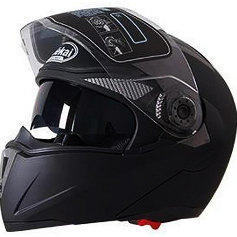 Safety Motorcycle Flip Up Helmet DOT ECE moto motorbike helmet With Inner Sun Visor Helmets 105