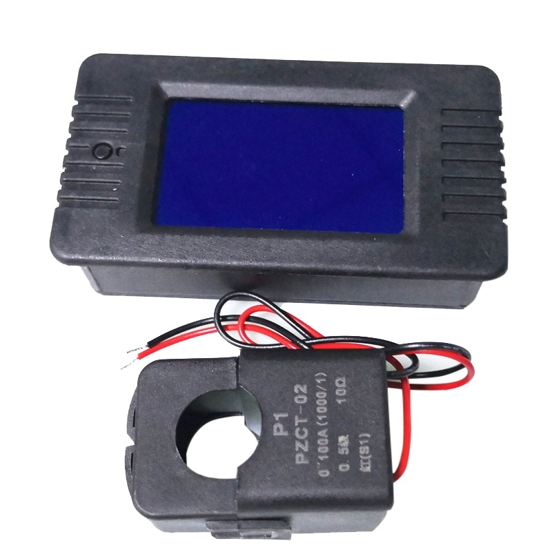 Ac 6in1 220 v 10a 단상 디지털 전류계 전압 전류 전력 에너지 역률 측정기 고정밀