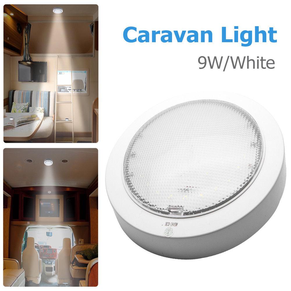 Luz LED de 9W para tortitas, luz para caravana, barco, cabina Interior, domo de techo, luz blanca de 12V