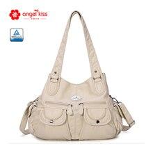 RURU maymun çanta kadınlar için moda kadın PU malzeme düz renk çok cep büyük kapasiteli bayanlar omuzdan askili çanta