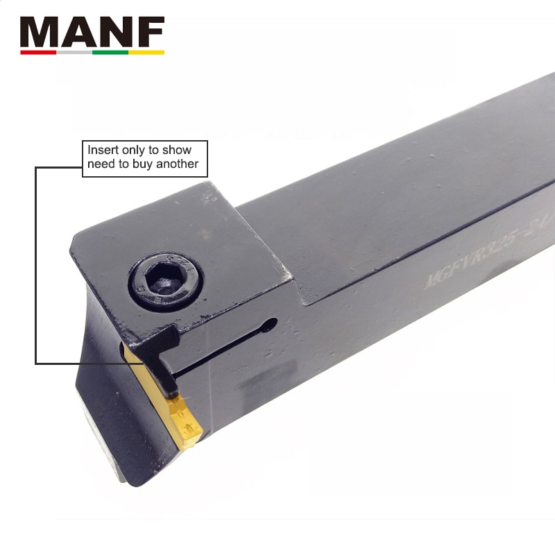MANF FGVH425-60/75 largeur rainure CNC tour usinage porte-outils de coupe Cutter métal extérieur séparation et visage rainurage outils
