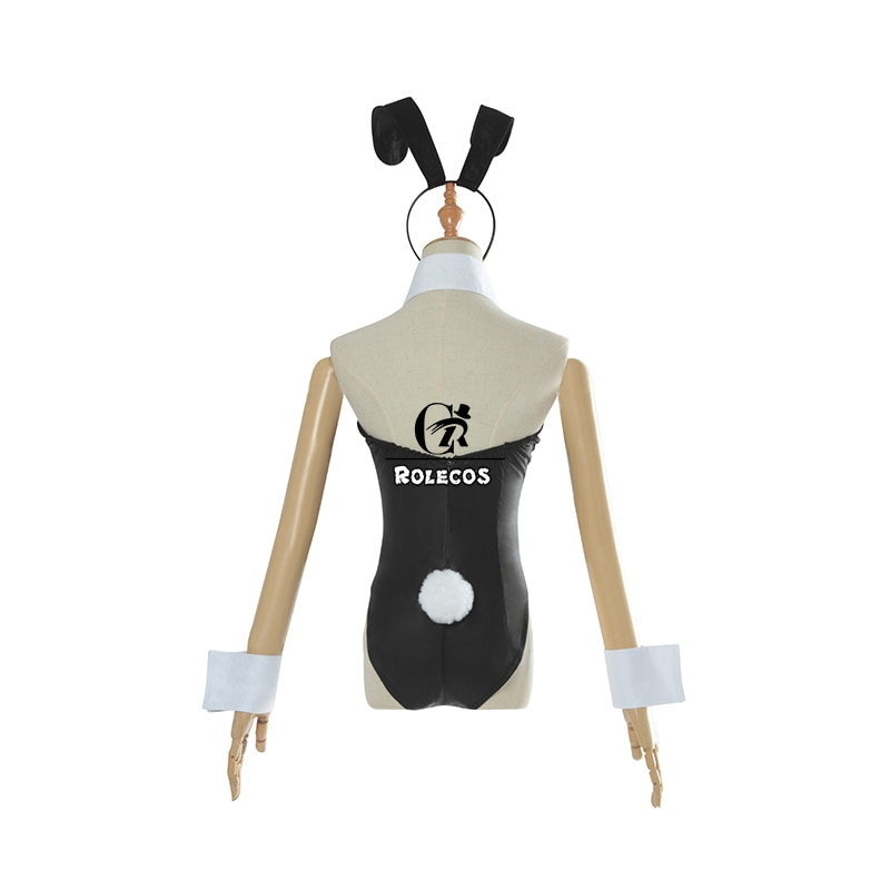 ROLECOS Anime Sakurajima Mai Cosplay Costume Halloween Women Black Sexy Jumpsuit Rascal Does Not Dream of Bunny Girl Senpai Cos