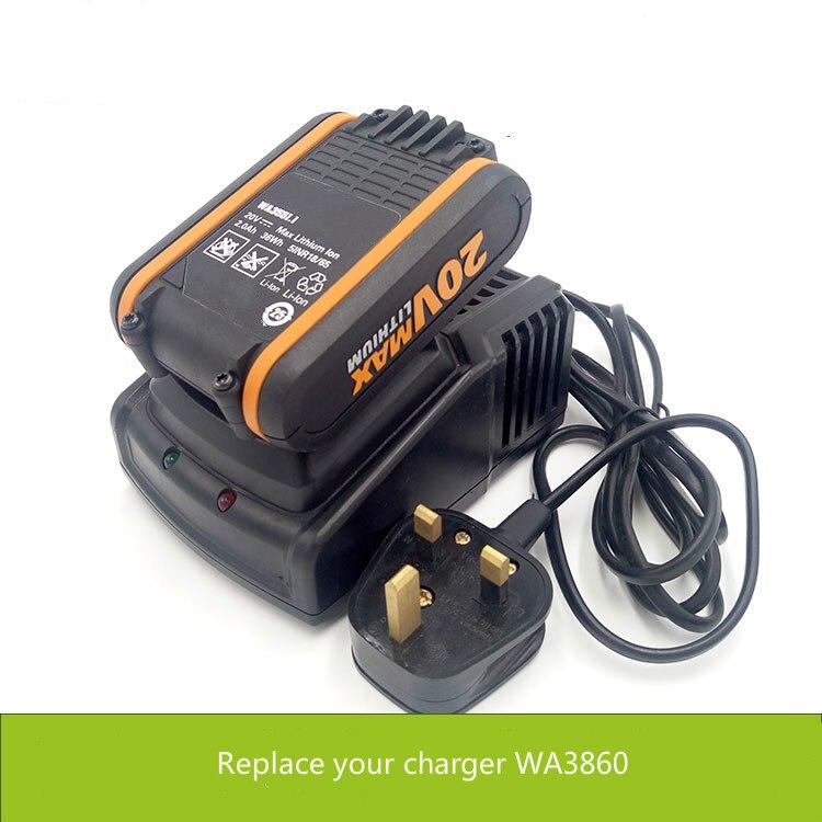 20V fast Charger for Replacing WORX WA3860 for WORX WA3551 WA3549 WA3550 WA3553 battery