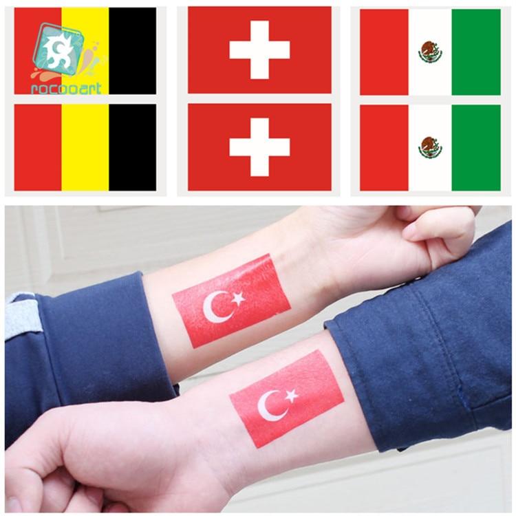 Национальный праздник, флаги стран Бельгии, Мексика, Швейцария, Турецкая тату-наклейка, временные татуировки для лица, 2019