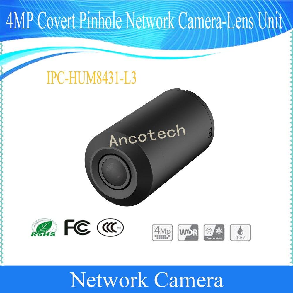 Dahua frete grátis segurança cctv 4mp câmera de rede secreta-lente unidade IPC-HUM8431-L3