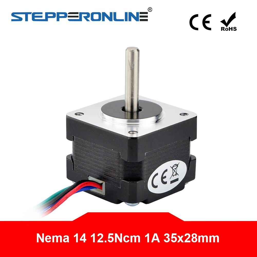 Nema 14 motor deslizante bipolar 1.8 graus 12.5ncm (17.7oz.in) 1a 4-chumbo 35x28mm 3d impressora cnc robô