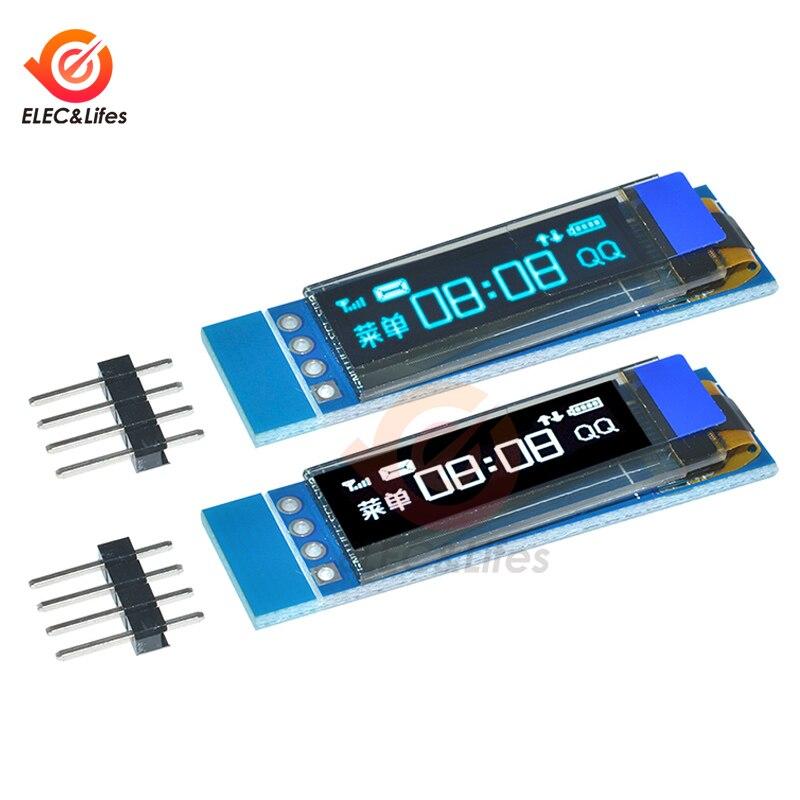 Módulo de pantalla OLED de 0,91 pulgadas OLED 128x32px azul/blanco pantalla LCD DIY módulo I2C IIC Serial SSD1306 para Arduino Communication