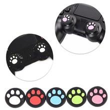 2 pièces chat patte caoutchouc Silicone jeu poignée Joystick pouce bâton poignée capuchon pour Xbox One/360 PS3 PS4