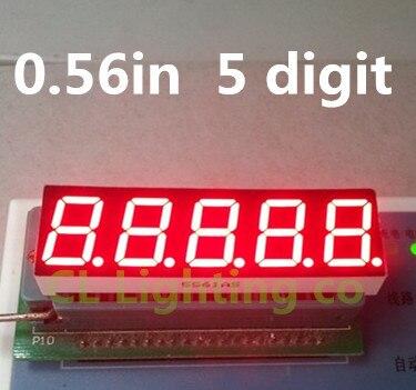 """Pantalla Led de tubo Digital de 5 Bits 7 segmentos rojo 0,56 pulgadas al por mayor de cátodo común 0,56 """"0.56in Pantalla de cuatro dígitos"""