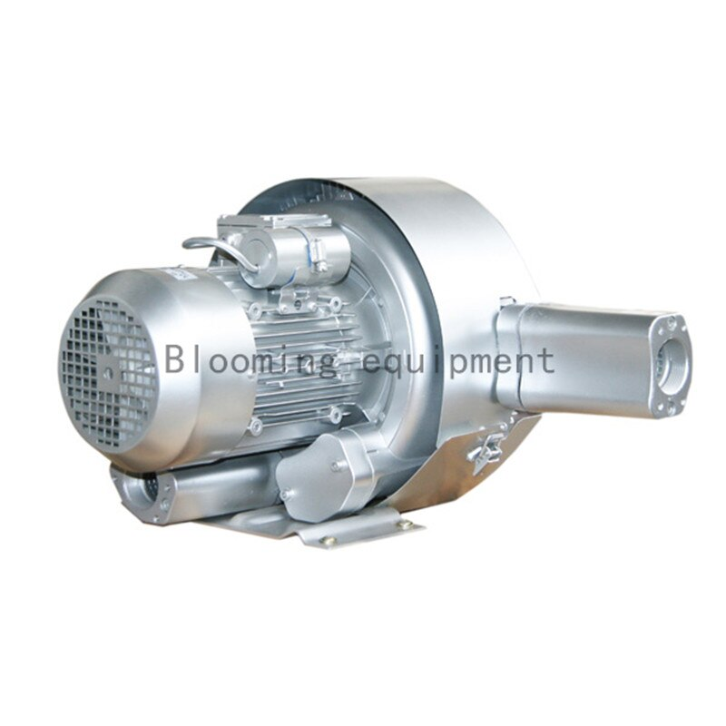 Free shipping 2RB220-7AH26 0.7KW double stage air ring blower/side channel vacuum pump/compressor for CNC router machine/ exw 2rb230 7ah16 0 4kw 0 5kw mini pressure aquaculture air blower ring blower side channel vacuum pump compressor