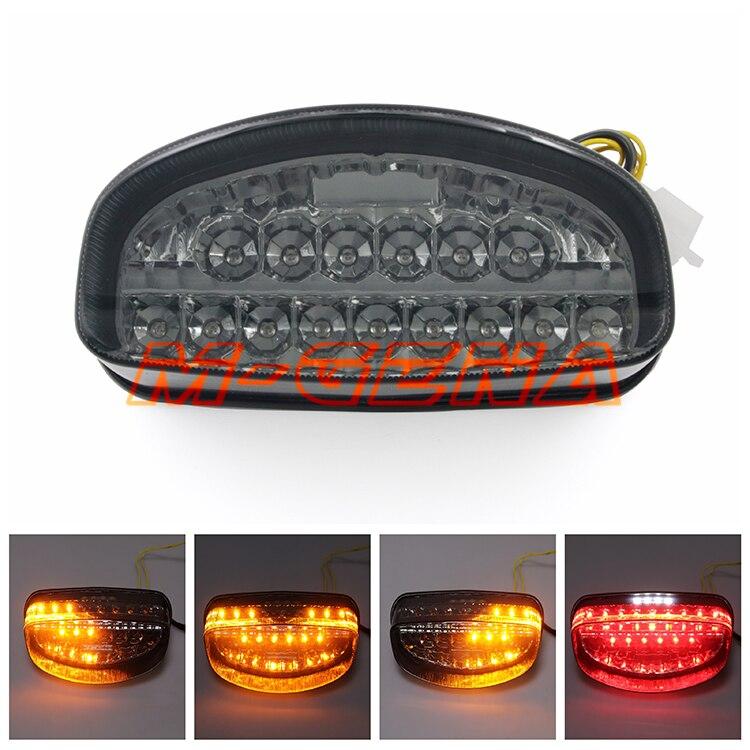 Luces de luz de freno trasera LED para motocicleta integradas para CBR1100XX CBR 1100 XX Hornet 250 600 1997 1998 97 98