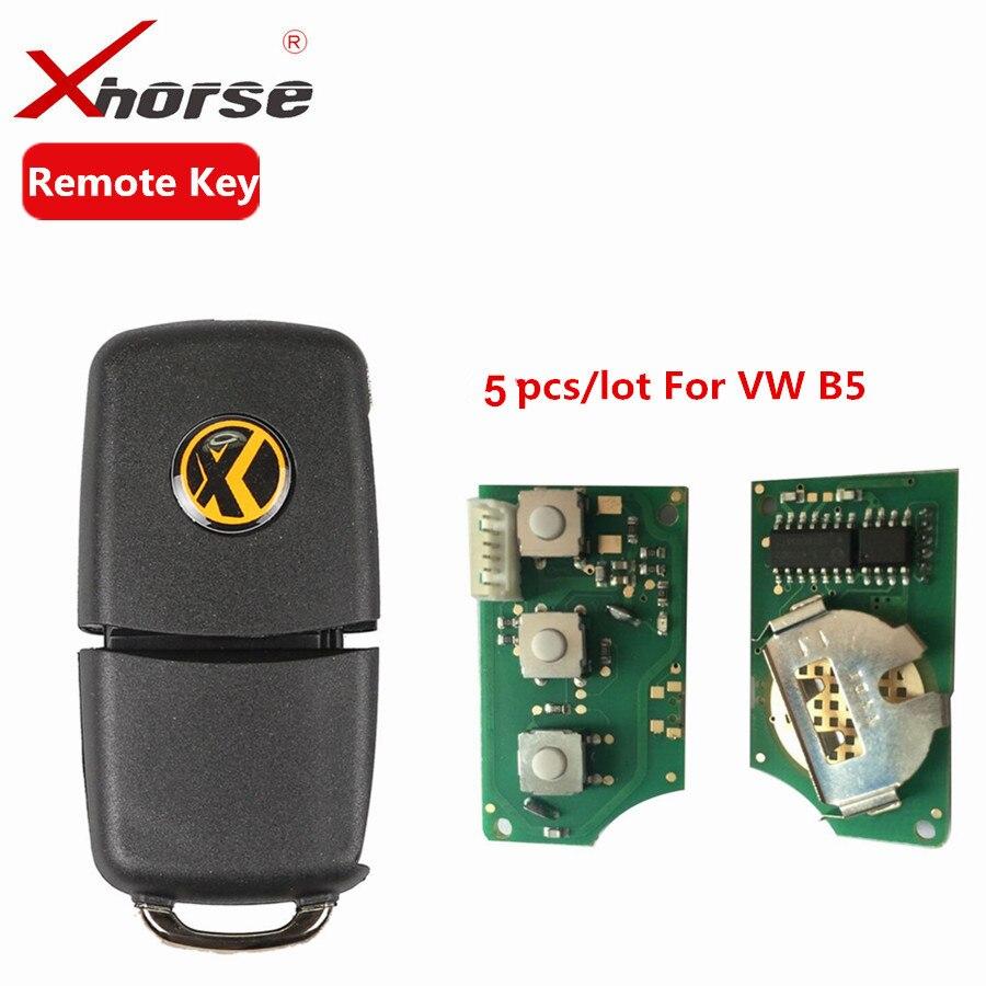 X001-01 Xhorse Remote Key 3 Buttons Board For B5 Type VVDI2 Mini Remote Programmer Remote Chip Key Program 5pcs/lot