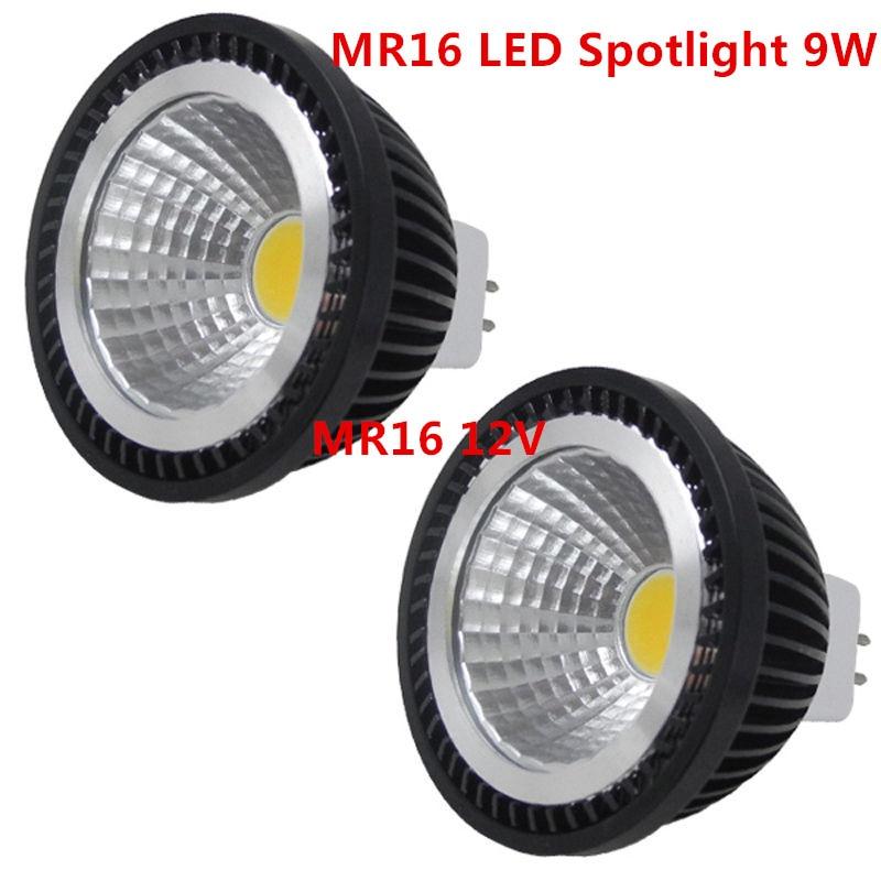 1 Pcs Super Heldere MR16 Cob 9W 12W 15W Led Gloeilamp MR16 12V Warm Wit koud Wit Led Lamp Verlichting