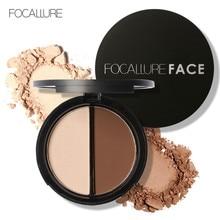FOCALLURE Highlighter Bronzer Powder  Palette Makeup 3D Contouring Make Up Face Pressed Powder Palette
