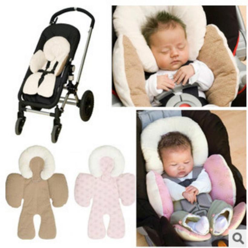 Портативное детское безопасное сидение, автомобильное кресло-коляска, утолщенная детская подушка для головы, детская подушка, двойная Авто...