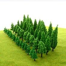 HO N scale 녹색 풍경 장면 풍경을위한 인공 플라스틱 모델 트리