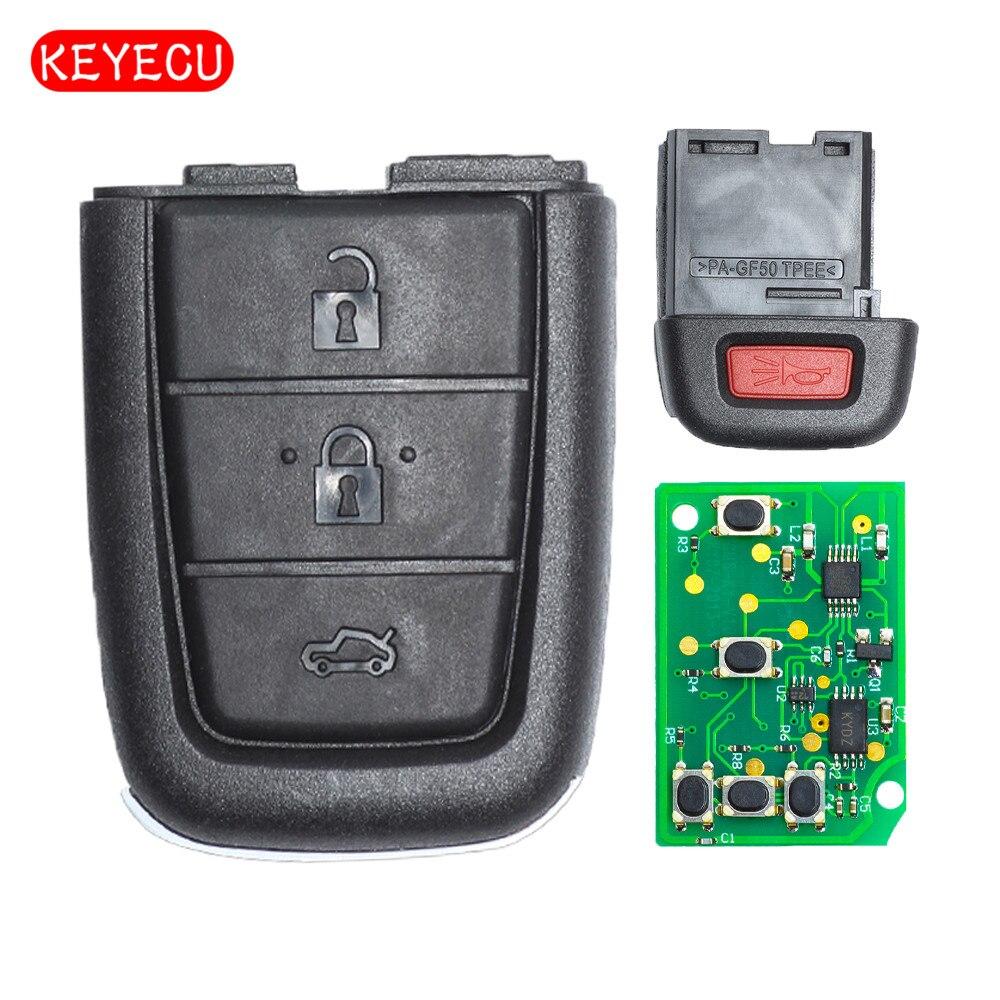Keyecu Remote Key Fob 3+1 Button 315 / 433MHz for Holden VE SS SSV SV6 Commodore 2006 2007 2008 2009 2010 2011 2012 2013