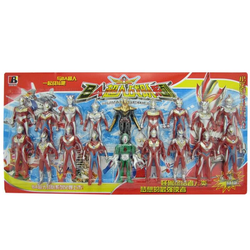 Jeu de jouets universel Superman Ultraman galaxie Superman Severantello poupée monstre 18 combinaison de jouets pour enfants figurines de jouets daction