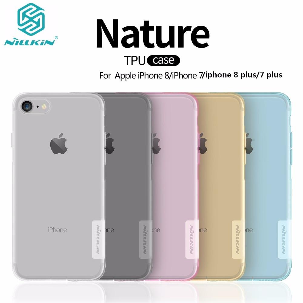 Carcasa de lujo para iphone 8/8 plus NILLKIN natural transparente silicona transparente suave TPU Protector para iphone 8 para el iphone 8 plus