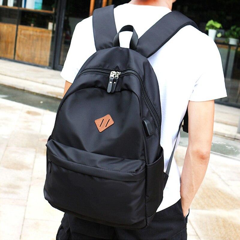 Nouveau sac à dos décole de mode pour hommes style preppy sac à dos pour ordinateur portable décontracté USB charge voyage sacs à dos mochila L70306