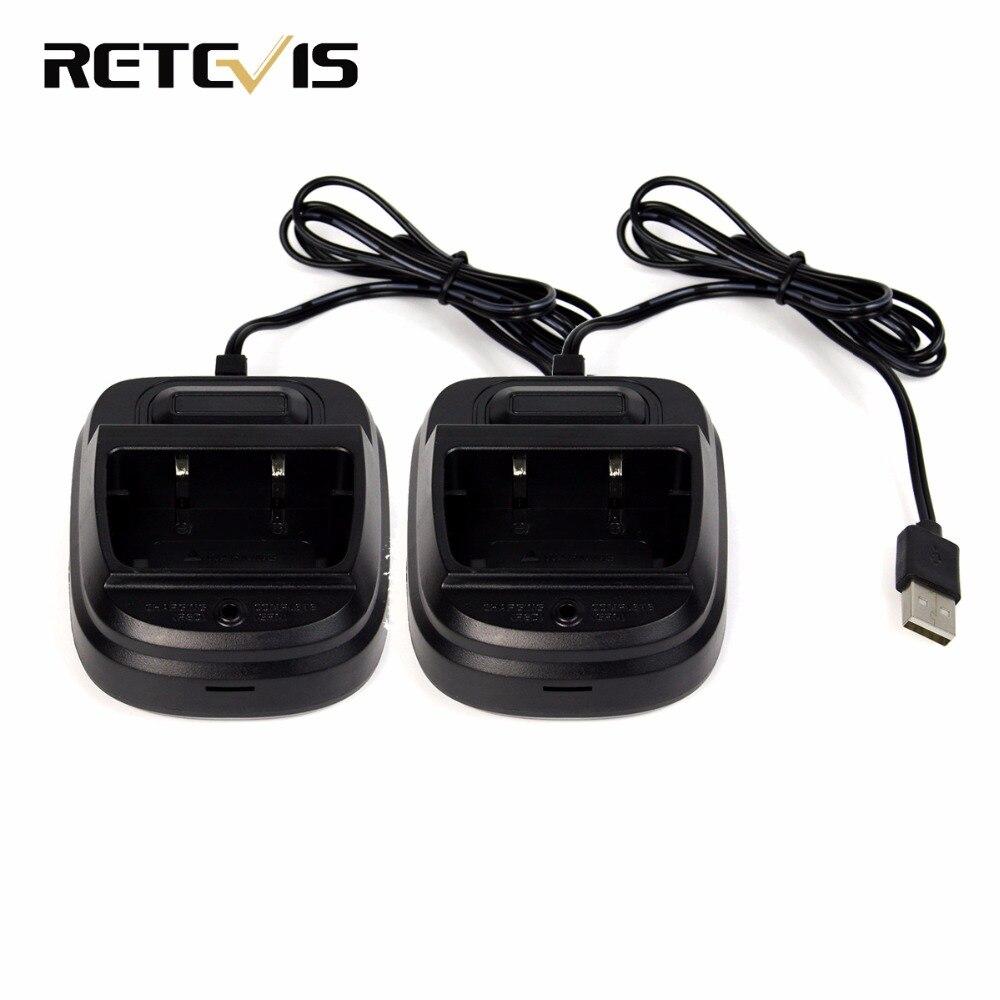 2 szt. Ładowarka USB ładowarka litowo-jonowa do Retevis RT7 Walkie Talkie J9111F